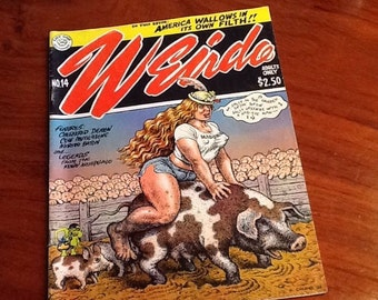 ADULTS ONLY Weirdo Comic Book by R. Crumb Circa 1980s Objectionable Content