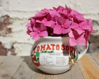 Vintage, 1970's Tomato Soup Recipe Mugs