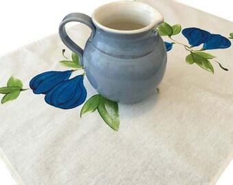 Tea towel, fig, linen/ cotton, hand painted