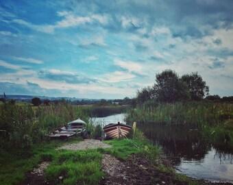 Ireland - Countryside - Irish Landscape - A River Somewhere In Ireland - Photo
