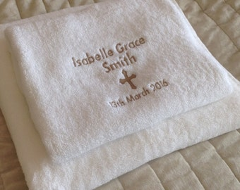 Personalised Children's Christening Towels