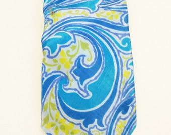 blue and yellow tie