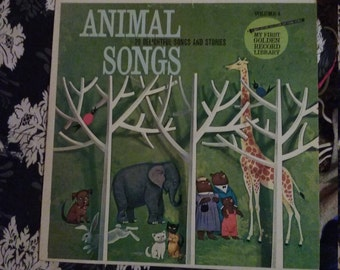 Animal Songs Vintage Record