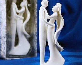 Ceramic Wedding Cake Topper (White Couple)