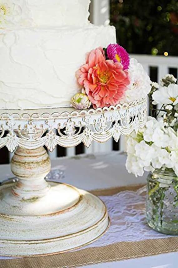 16 white wedding cake stand 16 distressed white metal cake stand vintage wedding 10071