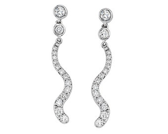 Wave Diamonds Earrings
