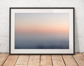 Coastal Sunset Abstract Photograph, Beach Photography, Abstract Art, Muted Colors, Minimalist, Printable Wall Art, Digital Download