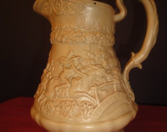 antique jug 15cm tall in resin pottery as per photo, english