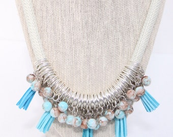Bora Bora Waters Statement  Necklace
