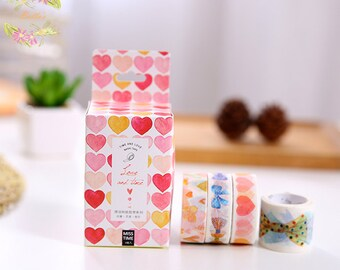 Set of 4 Love and Bow Washi Tape