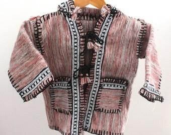 Children's Tunisian Woven Wool Coat