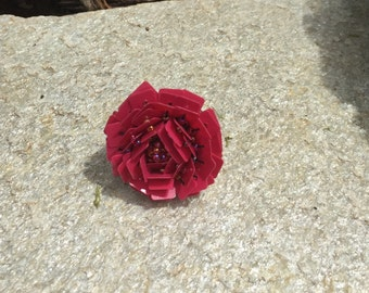 Pink Flower RIng, Pink Ring, Flower RIng, Pink Jewelry, Flower Jewelry