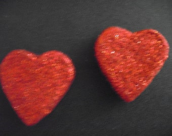 two red heart fridge magnets