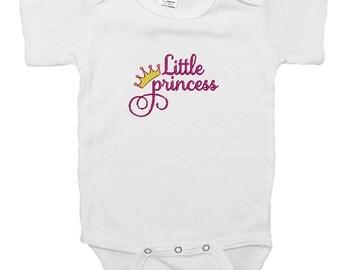 "Embroidered Baby Onesie ""Little Princess"""