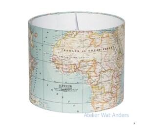 Lampshade, map, world map