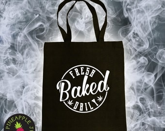 Fresh Baked Daily Cotton Canvas Tote Bag - 420 Tote Bag