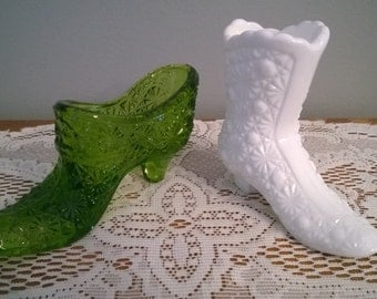 Daisy and Button Pattern -  Slipper and Boot