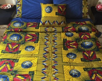 Double Ankara Comforter Set