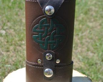 Flaccid door circle celtic leather
