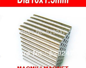 2016 Brand New 100pcs dia10x1.5mm Whole Sales Brand New Strong Disc Rare-earth Neodymium Magnet