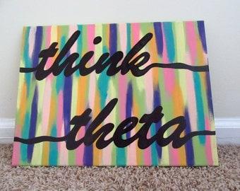 Abstract Kappa Alpha Theta Canvas
