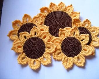 "Coasters ""Sunflowers"""
