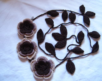 "Necklace ""Flowers and leaves"""