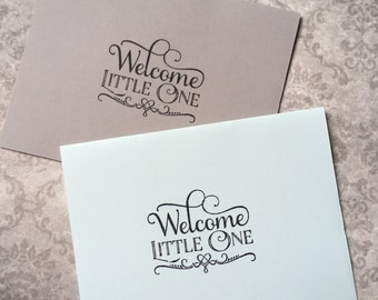 Welcome Little One card with Envelope