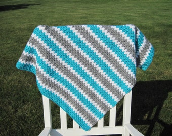 Crochet Baby Blanket-Granny Stripe