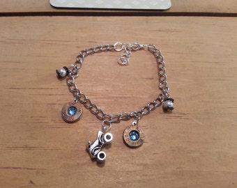 Quad charm bracelet