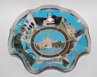 Vintage DIsneyland Souvenir Glass Bowl/Candy Dish - Excellent Condition