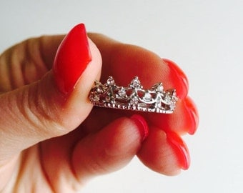 crown ring, tiara ring, princess ring, queen ring, royal ring, thumb ring