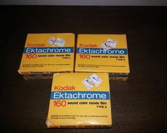 Lot of 3 Kodak Ektachrome 160 Super 8mm film