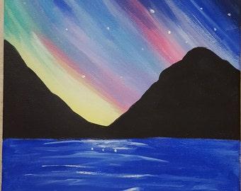 Colorful Ocean Sky Painting
