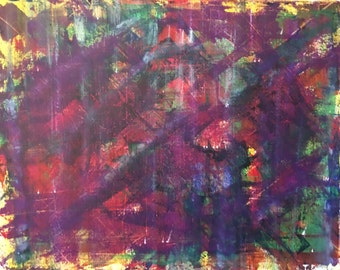 Heav - Small Abstract Painting by Teddy Engel