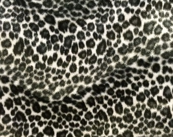 Velboa S-Wave Fabric Prints By The Yard -  Cheetah Snow (W2)