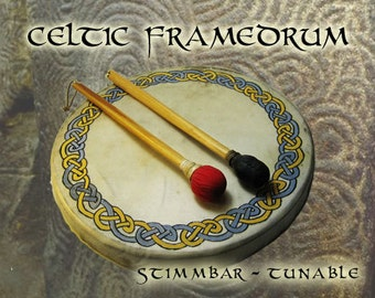 Celtic circle blue yellow framedrum tunable 41cm