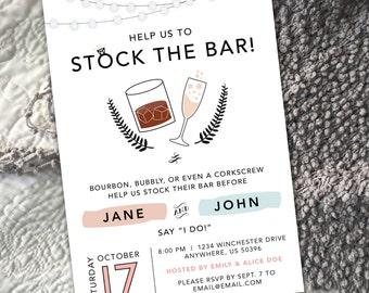Bourbon & Bubbly Stock the Bar Invitation