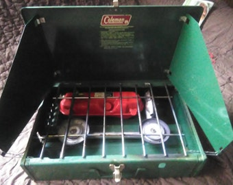 Vintage Coleman Camping Stove 1970's model 425F