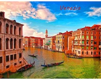 Good to know Fridge Magnet VENICE Venezia ITALY Photo Educational Vinyl FREE Shipping