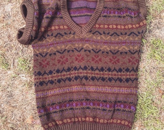 Old knitted jumper
