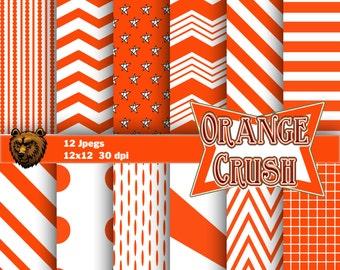 Orange digital paper, orange scrapbook, orange  background, orange scrapbook paper