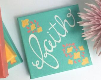 Faith 6x6 Canvas Lettering