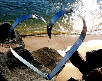 Stainless steel mobile hearts