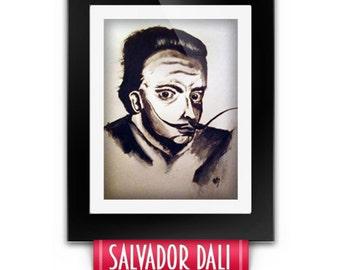 Salvador Dali acrylic portrait