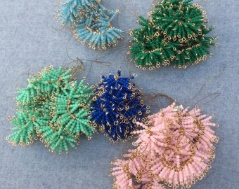 Vintage Japanese Glass 4 Beads (2mm) in a String Diff. Colour (JB.I.01) 60 pcs.