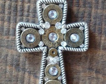 Bullet Cross with crystals