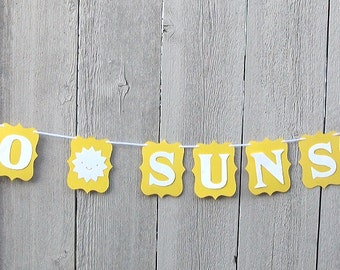 Hello Sunshine banner, Yellow sunshine, Yellow Sun decorations, First birthday, 1st birthday, One birthday, Baby shower, Yellow party sign