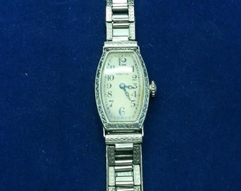 Deco 14Kt Solid White Gold Womens