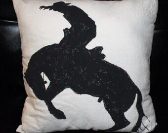 Bronc Rider Pillow